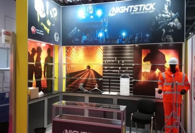 Exhibiting stands for the Security & infrastructure industry supporting mobile image