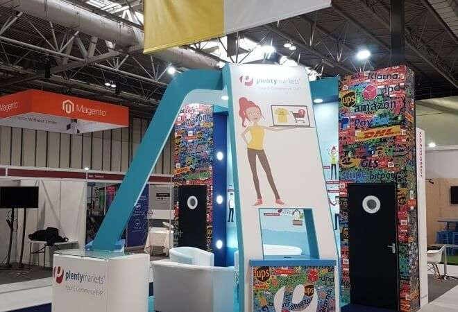 Exhibition stands for the E-commerce industry supporting mobile image