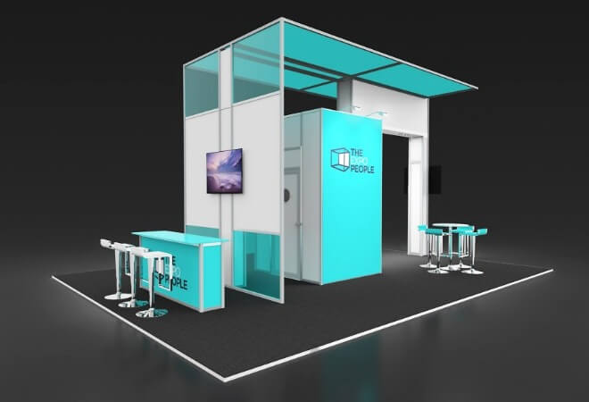 Exhibiting for large brands supporting mobile image