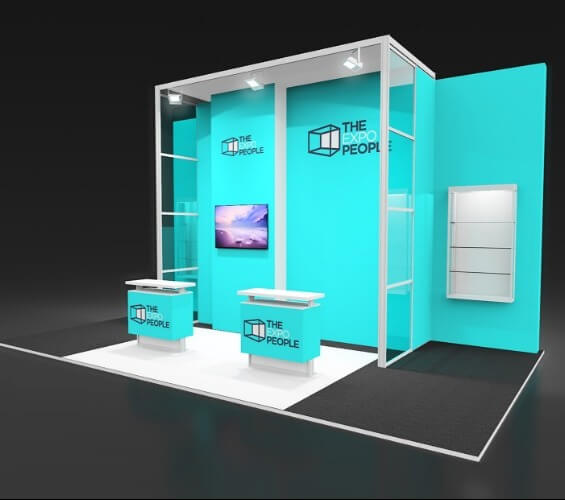 Exhibiting for the dental industry left supporting image