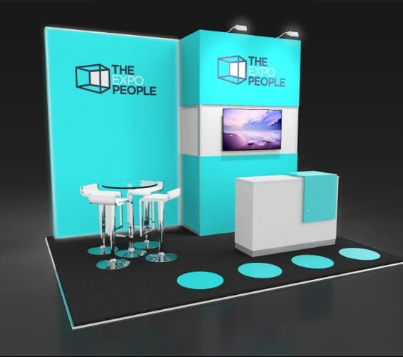 Exhibition stands for the E-commerce industry left supporting image